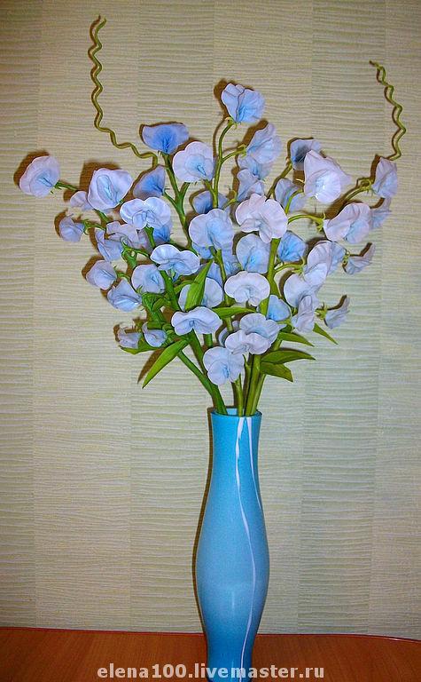 Цветы ручной работы. Ярмарка Мастеров - ручная работа. Купить Душистый горошек. Handmade. Цветы ручной работы, цветы для невесты
