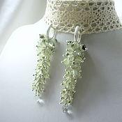 Украшения handmade. Livemaster - original item Earrings long Bunches with Prehnite and Green Amethyst drops. Handmade.