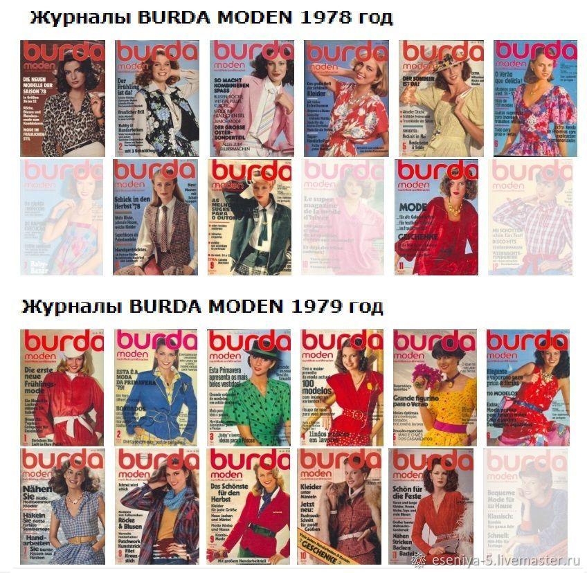 Action! Vintage magazines Burda Moden 1970-1979, Vintage books, Moscow,  Фото №1