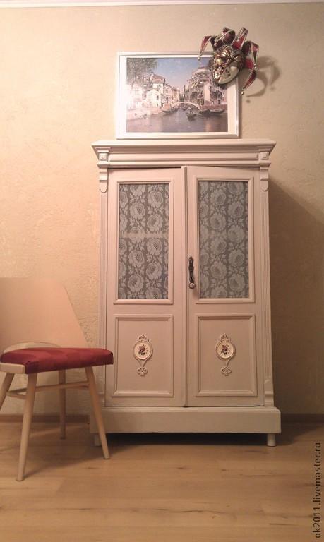 Мебель ручной работы. Ярмарка Мастеров - ручная работа. Купить Шкаф для одежды. Handmade. Бежевый, мебель ручной работы, роспись