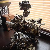 "Дизайн и реклама ручной работы. Ярмарка Мастеров - ручная работа Арт.10   Кованая бутылочница ""Роза"". Handmade."