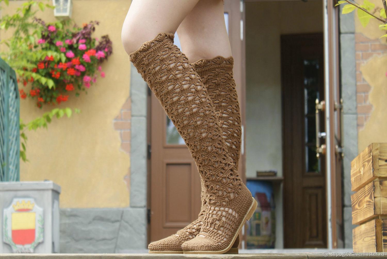 Summer boots 'Astrid', High Boots, Ryazan,  Фото №1