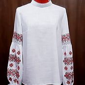 """Одежда handmade. Livemaster - original item Copy of Женская вышиванка  """"Розовое утро"""" ЖР4-107. Handmade."""