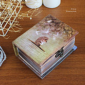 Для дома и интерьера handmade. Livemaster - original item hedgehog in the fog, the box-book. Handmade.