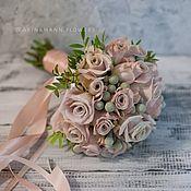 Свадебные букеты ручной работы. Ярмарка Мастеров - ручная работа Свадебный букет невесты из роз. Handmade.