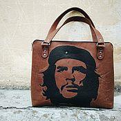 Сумки и аксессуары handmade. Livemaster - original item Bag from a genuine leather with reverse applique