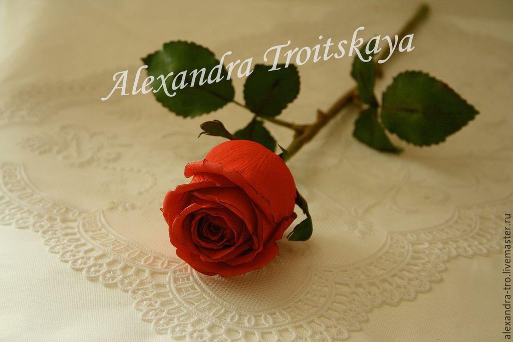 Мастер класс роза на стебле из фоамирана