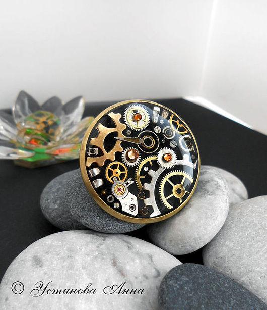 Стимпанк ручной работы. Ярмарка Мастеров - ручная работа. Купить Стимпанк кольцо,перстень,кольцо в стиле стимпанк,часы/ Steampunk. Handmade.