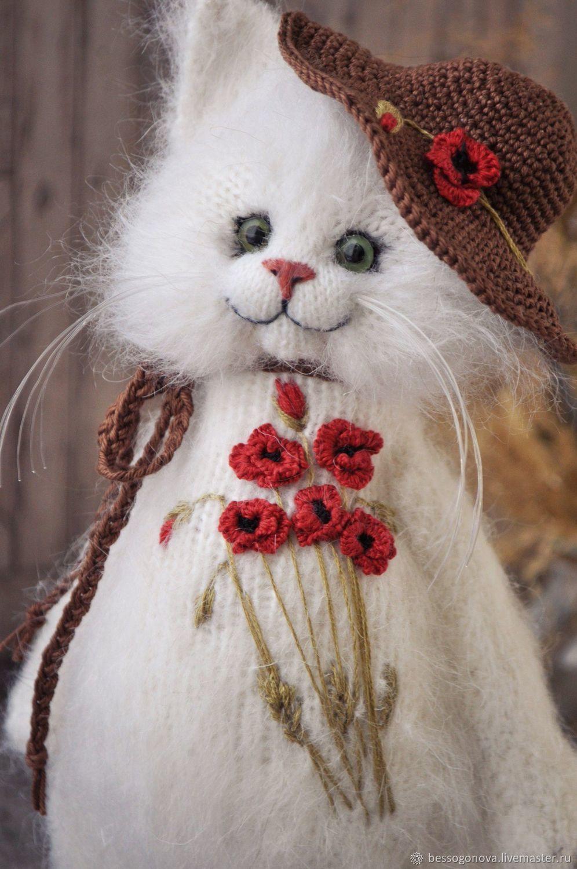 Вышитая шубка МАКИ Кошка игрушка, Мягкие игрушки, Северодвинск,  Фото №1