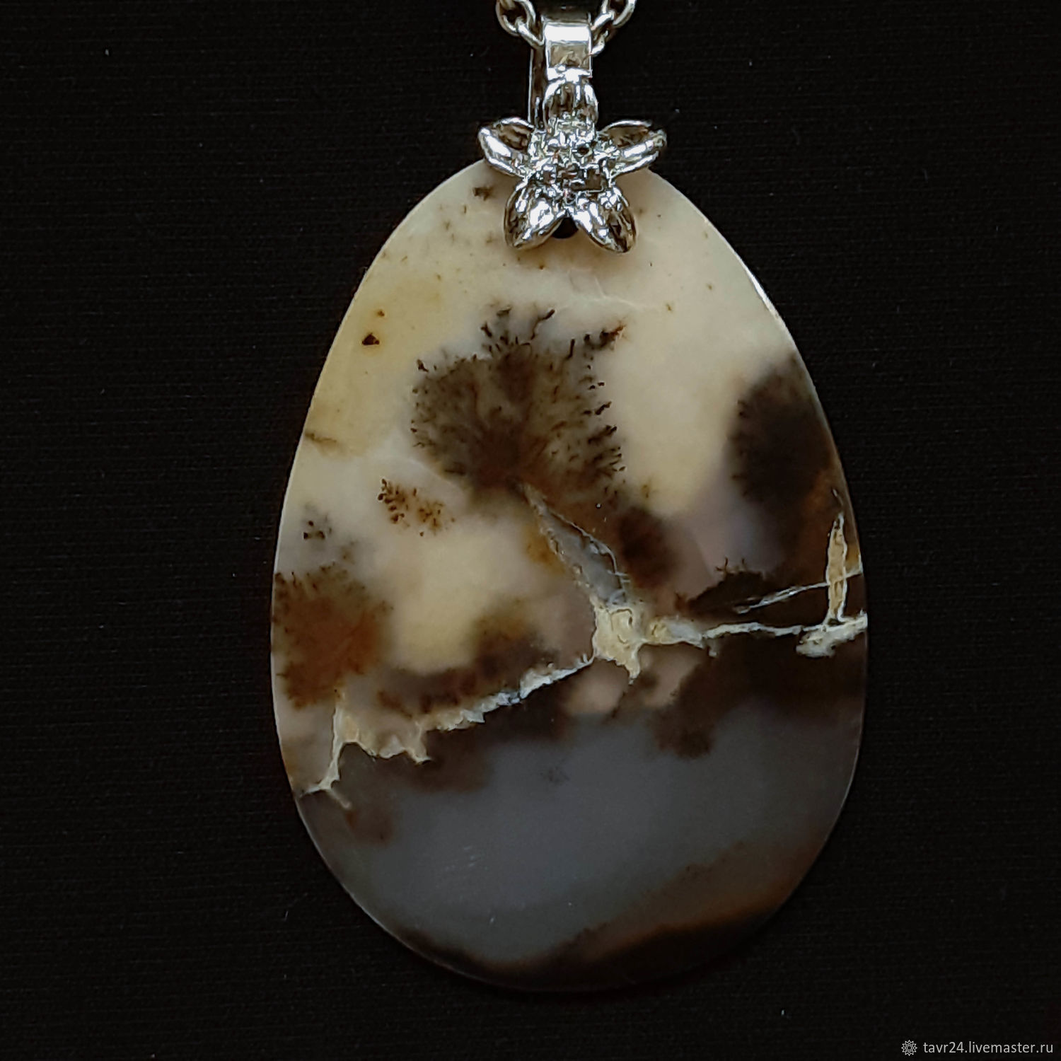 pendant №33. Chalcedony, an agate, agate Moholy, Pendants, St. Petersburg,  Фото №1