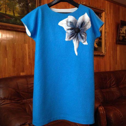 Платья ручной работы. Ярмарка Мастеров - ручная работа. Купить Платье войлочное бирюзовое. Handmade. Платье, платье войлок