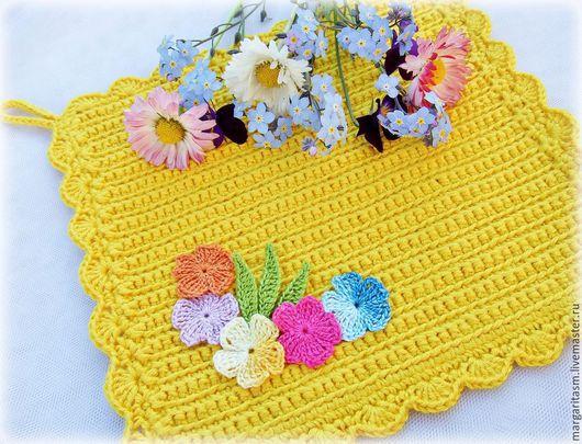 """Кухня ручной работы. Ярмарка Мастеров - ручная работа. Купить Набор кухонных прихваток """"Частичка солнца"""". Handmade. Разноцветный, цветы"""