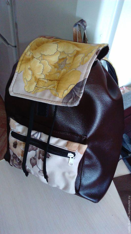 Рюкзаки ручной работы. Ярмарка Мастеров - ручная работа. Купить Кожаный Рюкзак. Handmade. Коричневый, рюкзак ручной работы
