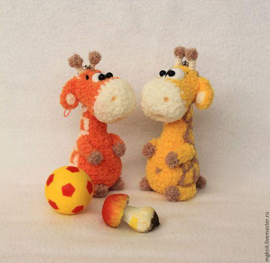 Игрушки животные, ручной работы. Ярмарка Мастеров - ручная работа. Купить Маленький Жираф (брелок, миниигрушка). Handmade. Оранжевый, подвеска