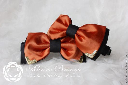 Галстуки, бабочки ручной работы. Ярмарка Мастеров - ручная работа. Купить Галстук-бабочка. Handmade. Оранжевый, галстук