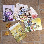 Открытки ручной работы. Ярмарка Мастеров - ручная работа Набор открыток Теплая осень. Handmade.
