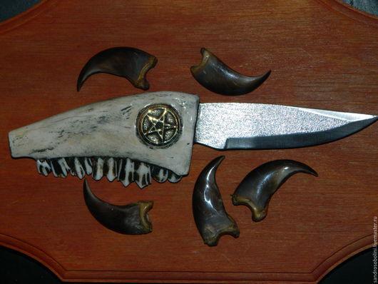 Эзотерические аксессуары ручной работы. Ярмарка Мастеров - ручная работа. Купить Ритуальный Нож. Handmade. Белый, нож, нож ритуальный