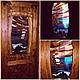 """Пейзаж ручной работы. Ярмарка Мастеров - ручная работа. Купить Дверной витраж """"Маяк"""". Handmade. Витраж, дверь, морской пейзаж"""