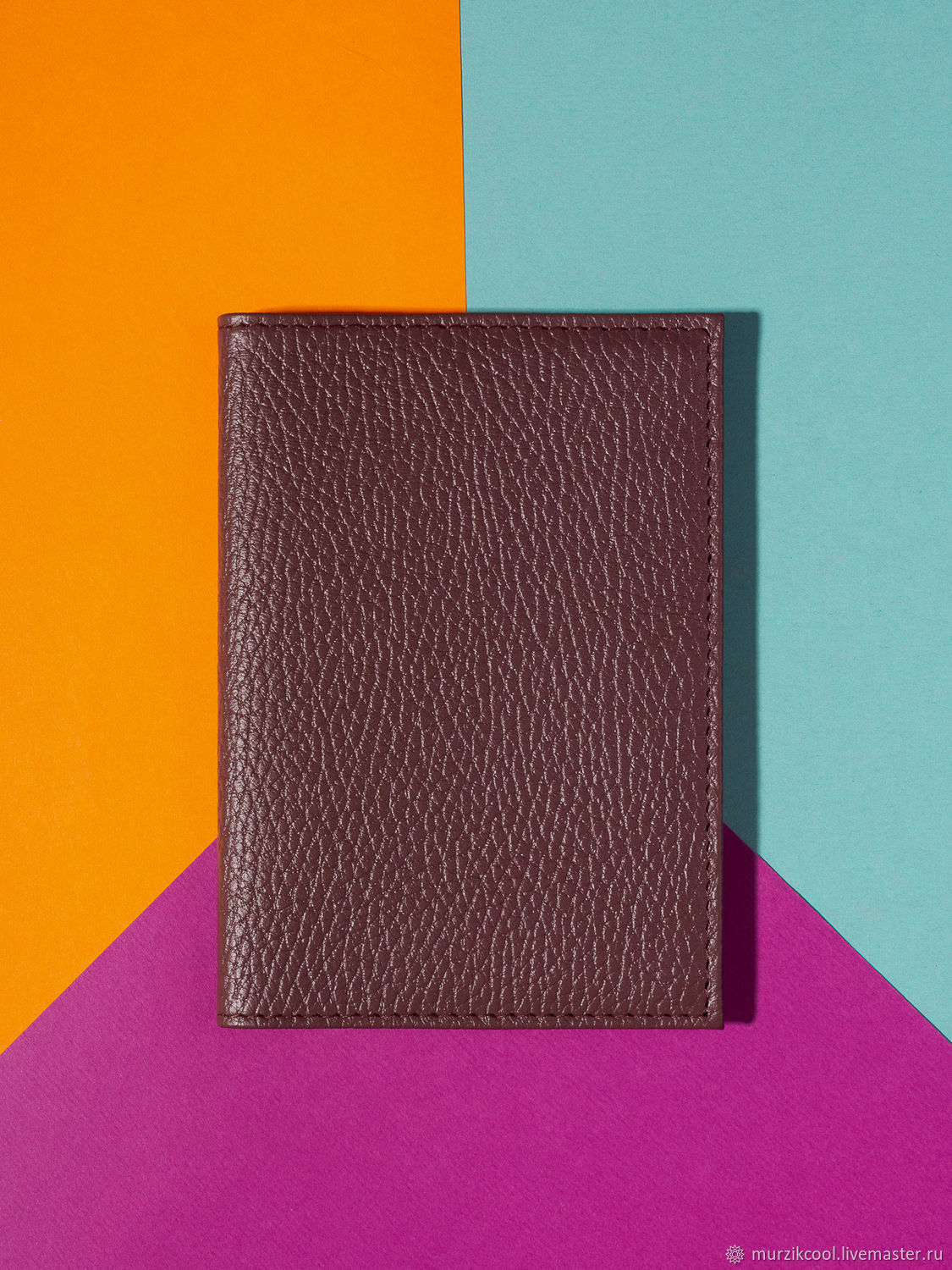 Passport cover 'Classic' Bordeaux, Cover, Moscow,  Фото №1