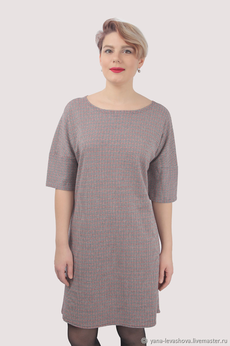 Office dress classic straight knitted crow's foot small, Dresses, Moscow,  Фото №1
