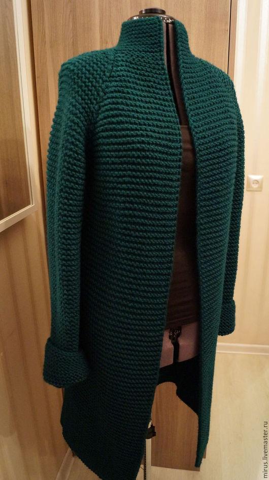 """Кофты и свитера ручной работы. Ярмарка Мастеров - ручная работа. Купить Кардиган """"Изумруд"""". Handmade. Тёмно-зелёный"""