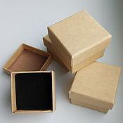 Материалы для творчества ручной работы. Ярмарка Мастеров - ручная работа Коробочка картонная для украшений. Handmade.