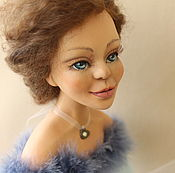 """Куклы и игрушки ручной работы. Ярмарка Мастеров - ручная работа Будуарная кукла """"Голубые облака"""". Handmade."""