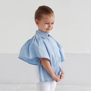 Одежда ручной работы. Ярмарка Мастеров - ручная работа Хлопковая рубашка двухцветная. Handmade.