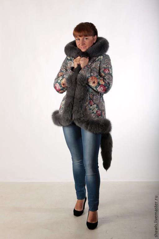 """Верхняя одежда ручной работы. Ярмарка Мастеров - ручная работа. Купить Куртка """"Тайна""""  из павловопосадского платка. Handmade. Разноцветный"""