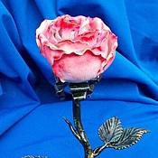 Подарки к праздникам ручной работы. Ярмарка Мастеров - ручная работа Подсвечник с розой. Handmade.
