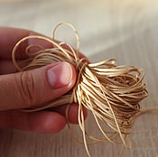 Материалы для творчества handmade. Livemaster - original item Laces for doll shoes (beige) Shoes for dolls. Handmade.