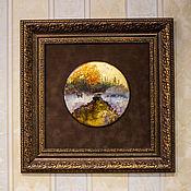 """Панно ручной работы. Ярмарка Мастеров - ручная работа Панно: Картина """"Олень"""". Handmade."""
