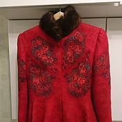 Одежда handmade. Livemaster - original item SALE! Felted costume in Russian style mink