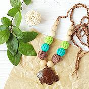Одежда handmade. Livemaster - original item Slingobusy coconut fish brown green. Handmade.