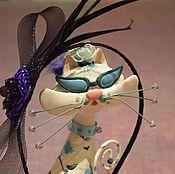 """Украшения ручной работы. Ярмарка Мастеров - ручная работа Ободок-шляпка """"Элегантность"""". Handmade."""