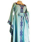 Dresses handmade. Livemaster - original item Medieval linen dress Sea Princess. Handmade.