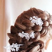 Свадебный салон handmade. Livemaster - original item Decorations in the hair: Stilettos with lilies of the valley in the style of Dior.. Handmade.
