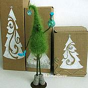 Подарки к праздникам ручной работы. Ярмарка Мастеров - ручная работа Елочка-топотушка новогодняя в подарочной коробке. Handmade.
