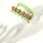 Украшения handmade. Livemaster - original item Triple green droplet bracelet. Handmade.