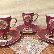 3 чайные пары стиль Лимож