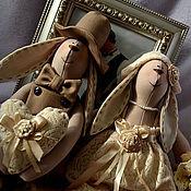 Куклы и игрушки ручной работы. Ярмарка Мастеров - ручная работа Зайки для Милы. Handmade.