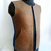 Мужская одежда handmade. Livemaster - original item Felted vest with seamless pockets. Handmade.