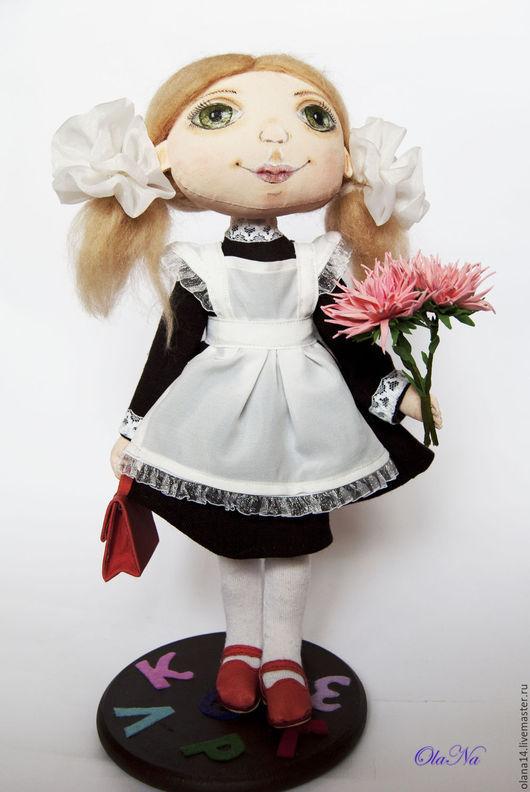 Коллекционные куклы ручной работы. Ярмарка Мастеров - ручная работа. Купить Первоклашка. Handmade. Комбинированный, кукла авторская, оригинальный подарок
