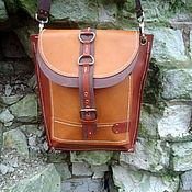 """Сумки и аксессуары handmade. Livemaster - original item Leather bag """"Red Sands"""" unisex. Handmade."""