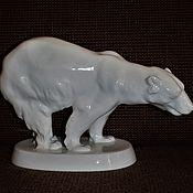 Винтаж ручной работы. Ярмарка Мастеров - ручная работа Большой белый медведь 31 см. Pirkenhammer Чехословакия Довоенный. Handmade.