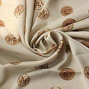 """Ткани ручной работы. Ярмарка Мастеров - ручная работа Ткань 31301 креп """"монетки"""". Handmade."""