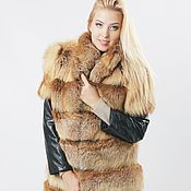 Одежда handmade. Livemaster - original item Fox fur jacket for women in red. Handmade.