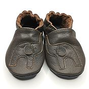 Одежда детская handmade. Livemaster - original item Toddler Shoes Leather, Elephant Baby Shoes, Brown Baby Shoes. Handmade.