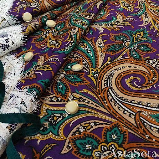 Батист фиолетово-зеленые огурцы, Ткани, Москва,  Фото №1