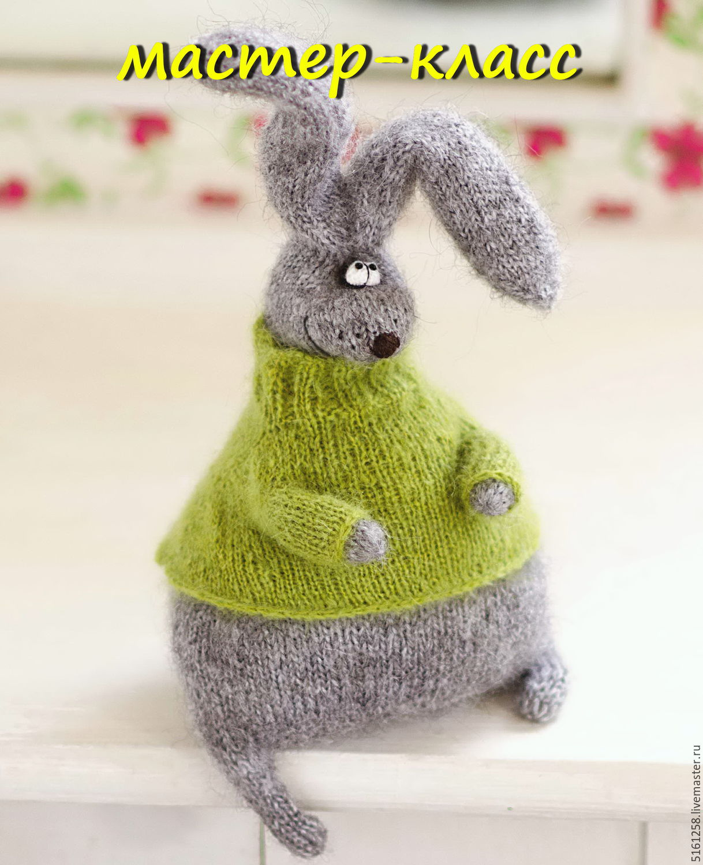 Игрушка заяц на спицах со схемами